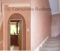 Example of plastering